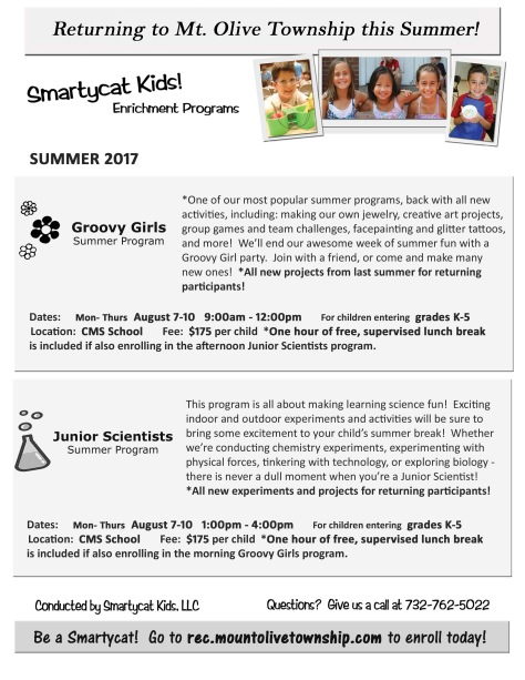 Smarty Cat Kids Camp Flyer 2017
