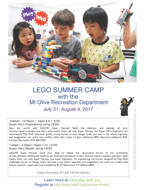 2017 Playwell Lego camp at CMS